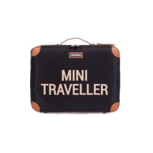 Childhome mini traveller reiskoffer zwart goud