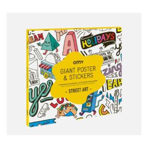 OMY POSTER GEANT MET STICKER STREET ART