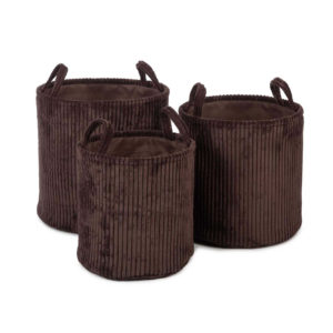 kidsdepot opbergmand ebby brown set van 3