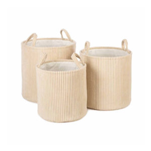 kidsdepot opbergmand ebby off white set van 3