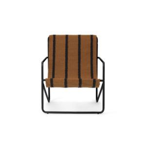 Ferm Living Desert chair kids black stripe voorkant