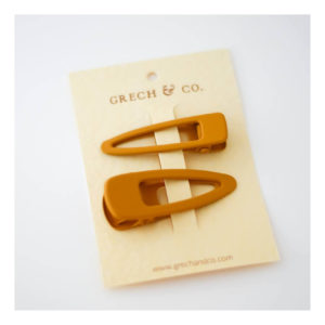 GRECH & CO MATTE CLIPS SET OF 2 GOLDEN