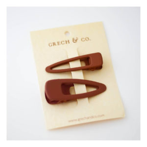 GRECH & CO MATTE CLIPS SET OF 2 RUST
