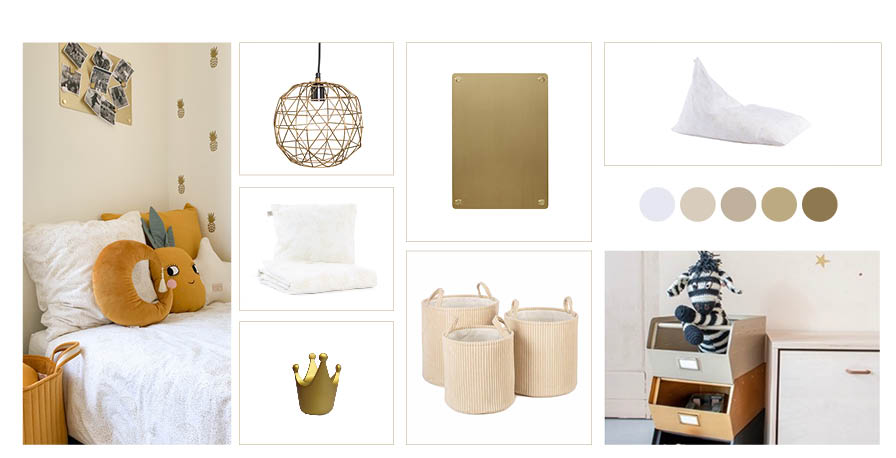 MOODBOARD A TOUCH OF GOLD 430 X 220