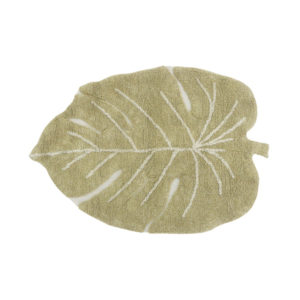 Mini tapijt in de vorm van een blad van Lorena Canals