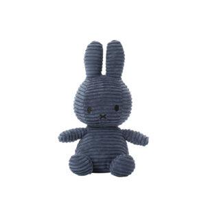 Nijntje Miffy corduroy blue achterkant 23 cm