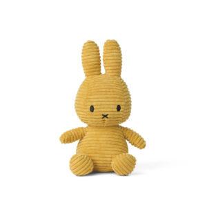 Nijntje Miffy corduroy yellow 23 cm