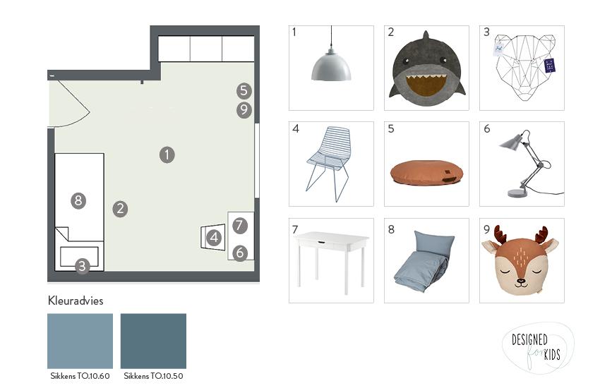 Styling advies plattegrond kamer