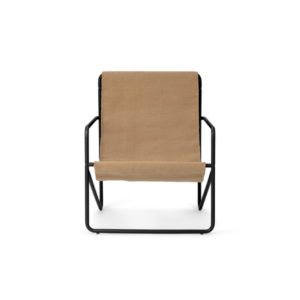 Ferm Living Desert chair black sand vooraanzicht
