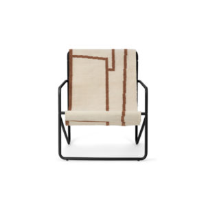 Ferm Living Desert chair black shape voor