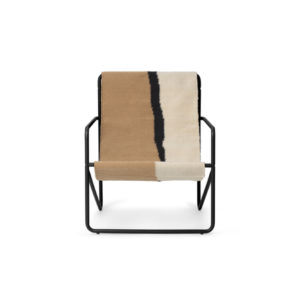 Ferm Living Desert chair black soil voorkant