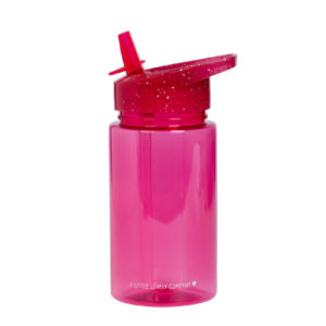 A LITTLE LOVELY COMPANY DRINKFLES GLITTER PINK