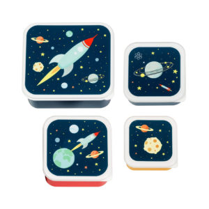 A LITTLE LOVELY COMPANY LUNCH BOX SET SPACE