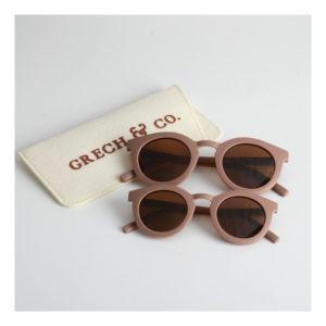 Donkerroze zonnebril van Grech & Co