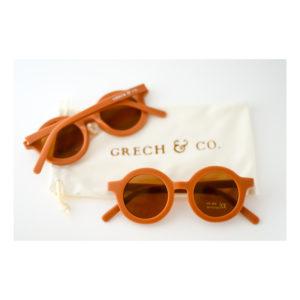Oranje kinderzonnebril van Grech & Co