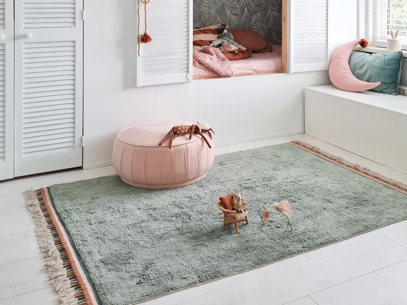 Groengrijze tapijt Julie Ocean van Tapis Petit